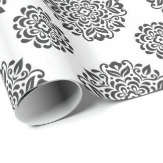 Noir et blanc papiers cadeaux noël