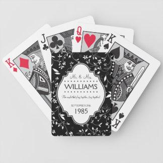 Noir et blanc personnalisé d'anniversaire de maria cartes à jouer