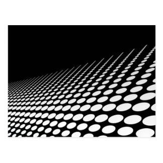 Noir et blanc pointille la perspective carte postale