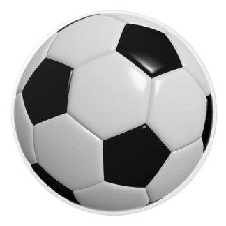 Boutons et poign es de porte ballon football accessoires de mobilier person - Ballon de foot noir et blanc ...