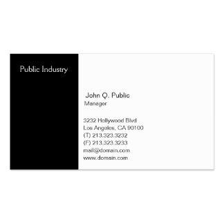 Noir et blanc professionnel moderne simple carte de visite standard