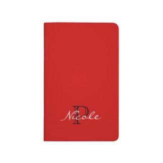 Noir et blanc rouge de ~ décoré d'un monogramme carnet de poche