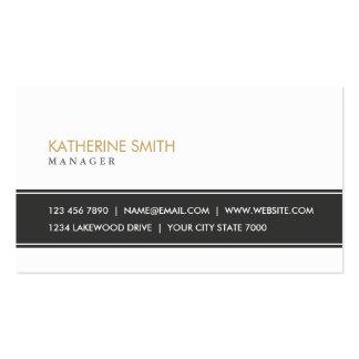 Noir et blanc simple simple professionnel élégant cartes de visite personnelles