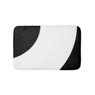 Noir et blanc tapis de bain