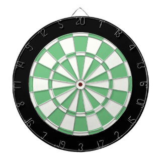 Noir et blanc vert jeux de fléchettes