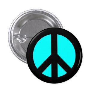 Noir et bouton de symbole de paix d'Aqua Pin's