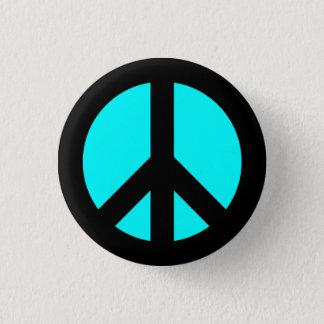 Noir et bouton de symbole de paix d'Aqua Badges