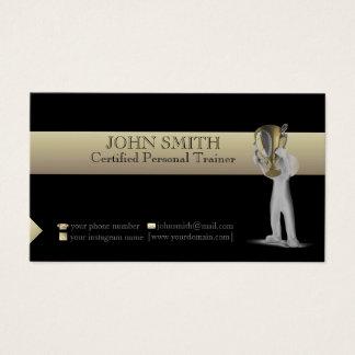 Noir et carte de visite de modèle d'or