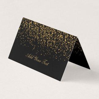 Noir et cartes d'endroit des confettis   d'or