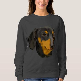 Noir et chien de teckel de rouille sweatshirt