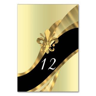 Noir et gold fleur de lys