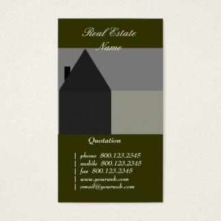 Noir et gris de construction de Chambre Cartes De Visite