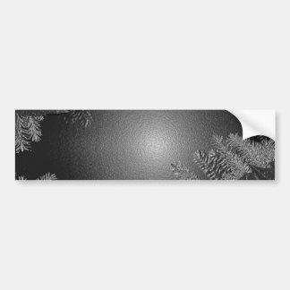 Noir et gris de poinsettia de Noël Autocollants Pour Voiture