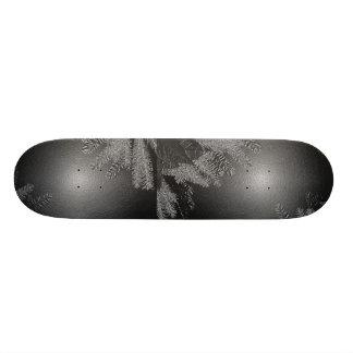 Noir et gris de poinsettia de Noël Plateau De Planche À Roulettes