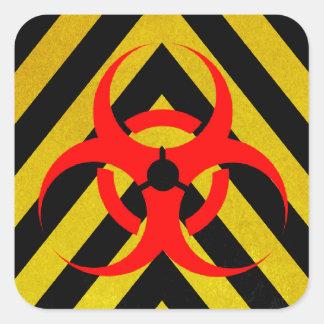 Noir et jaune de Biohazard Stickers Carrés
