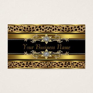 Noir et léopard d'or cartes de visite