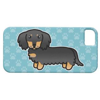 Noir et long chien bronzage de bande dessinée de coques iPhone 5 Case-Mate