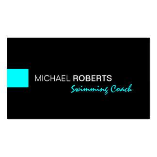 Noir et maître nageur d'entraîneur d'instructeur carte de visite standard