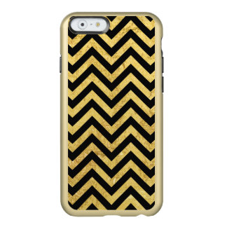 Noir et motif de Chevron de rayures de zigzag de Coque iPhone 6 Incipio Feather® Shine