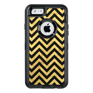 Noir et motif de Chevron de rayures de zigzag de Coque OtterBox iPhone 6/6s