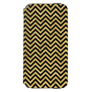 Noir et motif de Chevron de rayures de zigzag de Coque-portefeuille iPhone 6 Incipio Watson™