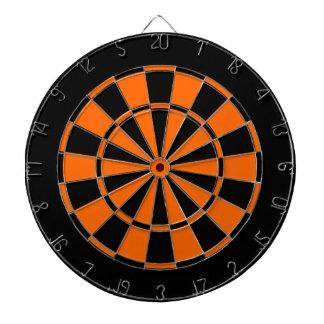 noir et orange jeu de fléchettes
