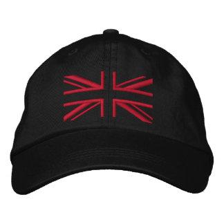 Noir et rouge de ~ d'Union Jack Casquette Brodée