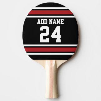 Noir et rouge folâtre le nombre nommé fait sur raquette tennis de table