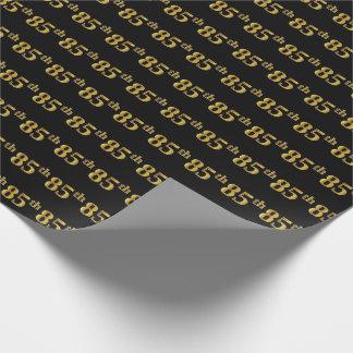Noir, événement d'or de Faux 85th Papier Cadeau