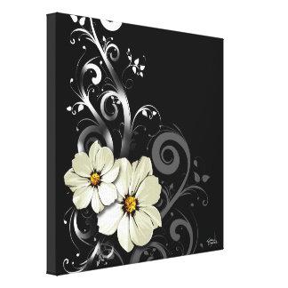 Noir floral fleuri du Flourish | Toile Tendue Sur Châssis