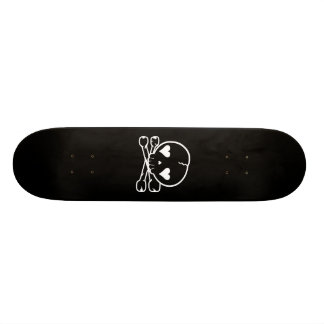 Noir gothique de Lolita de crâne de Kawaii et noir Plateaux De Skateboards Customisés