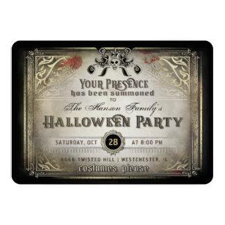 Noir gothique de partie d'élégance de Halloween et Carton D'invitation 12,7 Cm X 17,78 Cm