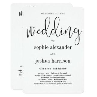 Noir gracieux de programme de cérémonie de mariage