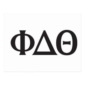 Noir grec de lettres carte postale