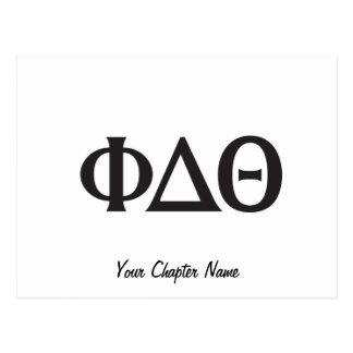 Noir grec de lettres cartes postales