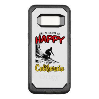 Noir HEUREUX du SURFER 2 de la CALIFORNIE Coque Samsung Galaxy S8 Par OtterBox Commuter