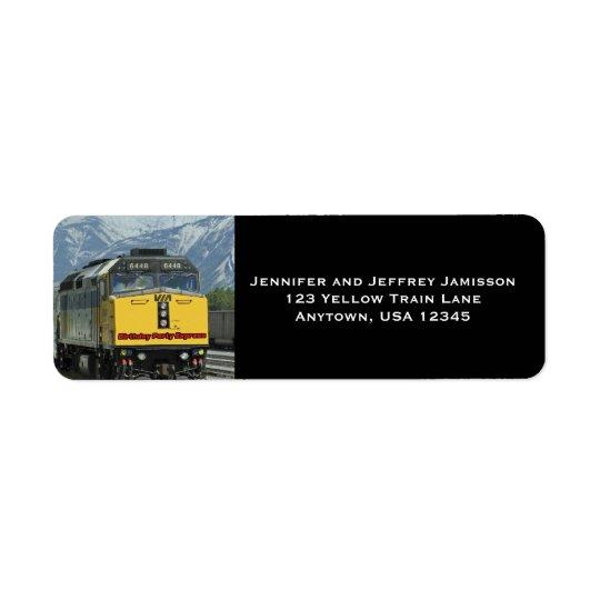 Noir jaune d'étiquettes de adresse de retour étiquette d'adresse retour