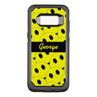 Noir jaune heureux de sourire de visages souriants coque samsung galaxy s8 par OtterBox commuter