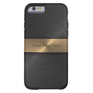 Noir métallique et or coque tough iPhone 6