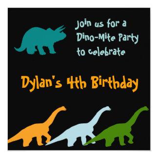 Noir mignon d'invitations de fête d'anniversaire carton d'invitation  13,33 cm