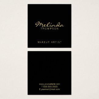 Noir moderne simple professionnel et or carte de visite carré