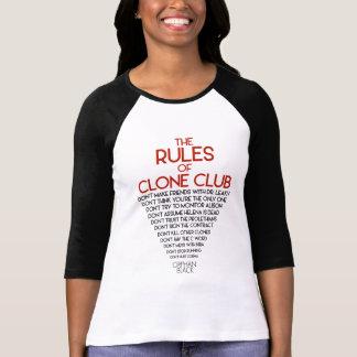 Noir orphelin   les règles du club de clone t-shirt