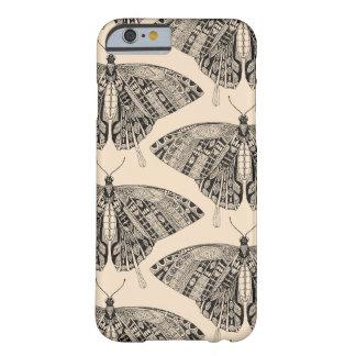 noir pâle de pêche de papillon de machaon coque iPhone 6 barely there
