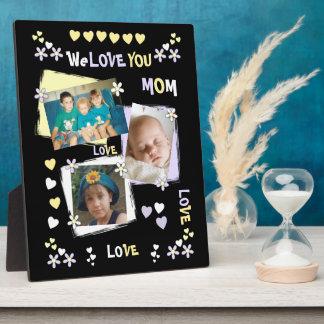 Noir personnalisé nous vous aimons photo de maman plaque photo