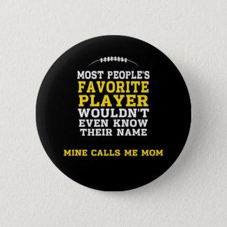 Noir préféré de joueur de football de la maman et badge