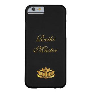 Noir principal/or de Reiki Coque Barely There iPhone 6