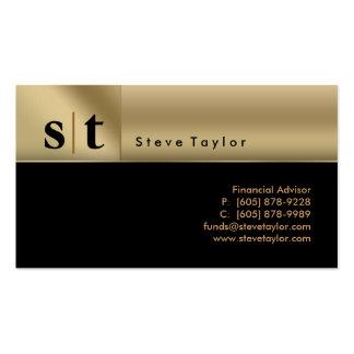 Noir professionnel chic et carte de visite d'or