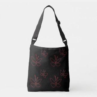 noir rose de papillons d'ensemble sac