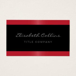 Noir rouge de frontière de satin élégant élégant cartes de visite