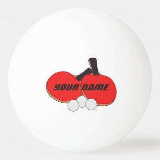 Noir rouge personnalisé de ping-pong balle tennis de table